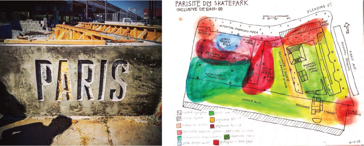 Parisite Skateable Sculpture & Public Mural Projects